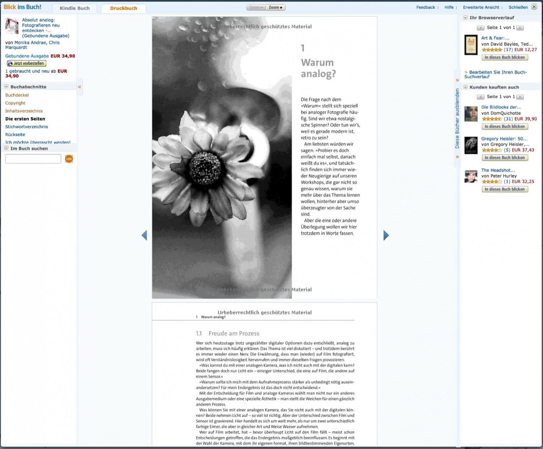 """Blick ins Buch"" bei Amazon"