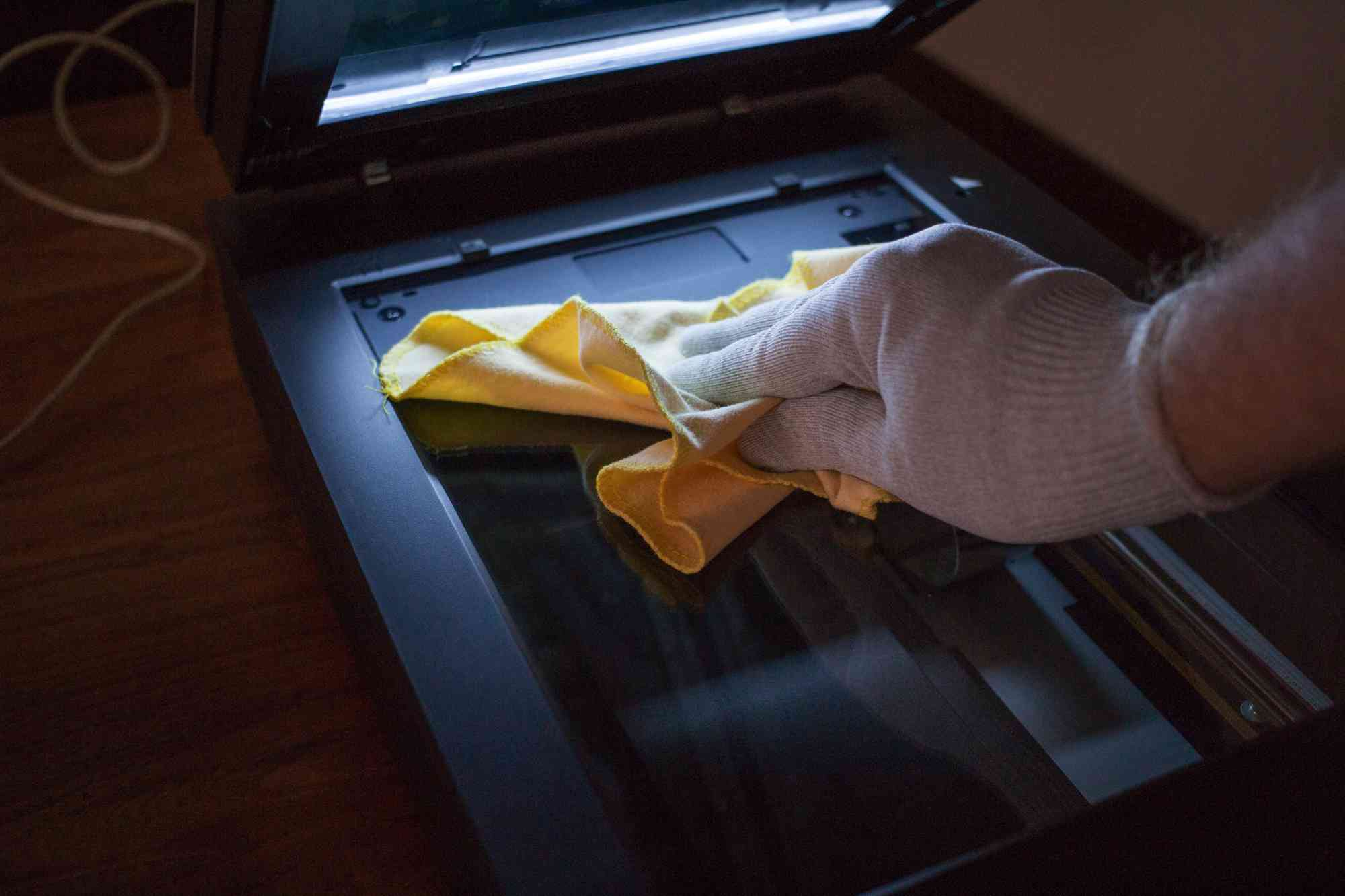Fotos scannen - Vorbereitung