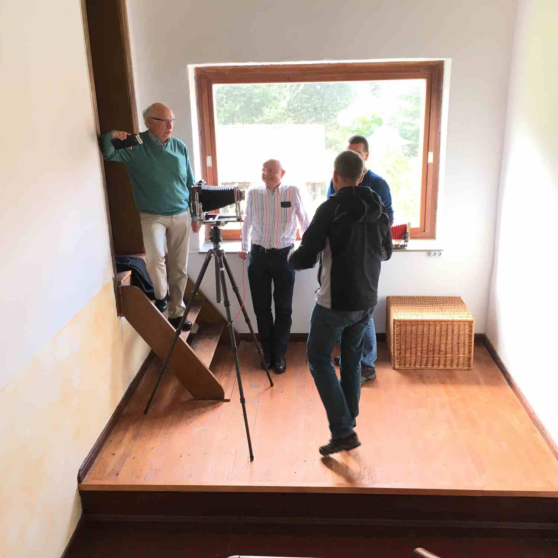 Fachsimpeln mit Großformat-Kamera